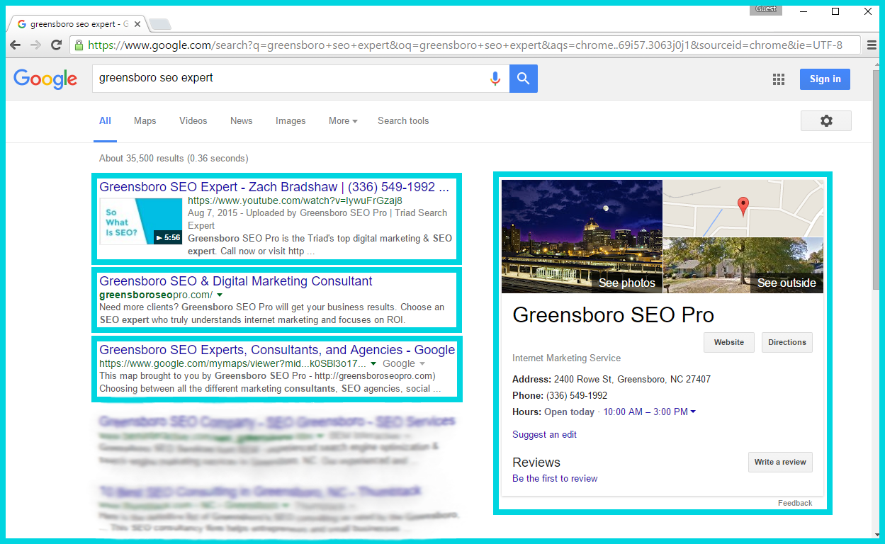 """Greensboro SEO Expert"" - Outcompeting Greensboro Marketing Firms in Their Own Backyard"